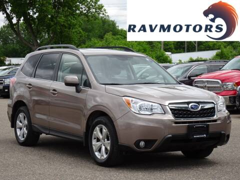 2015 Subaru Forester 2.5i Limited for sale at RAVMOTORS in Burnsville MN