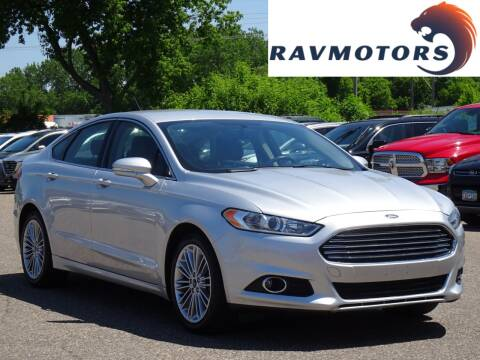 2014 Ford Fusion SE for sale at RAVMOTORS in Burnsville MN