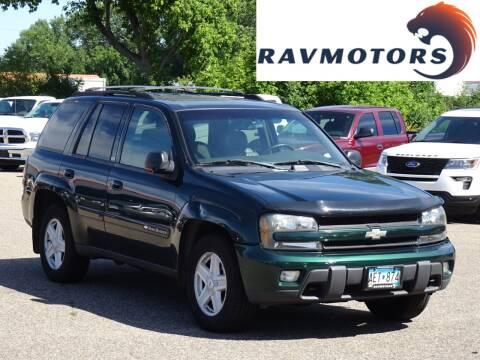 2003 Chevrolet TrailBlazer for sale at RAVMOTORS in Burnsville MN