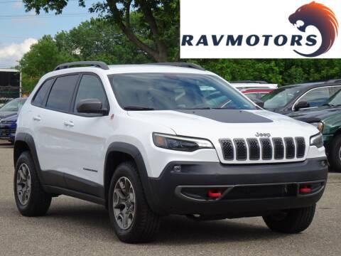 2020 Jeep Cherokee for sale at RAVMOTORS in Burnsville MN