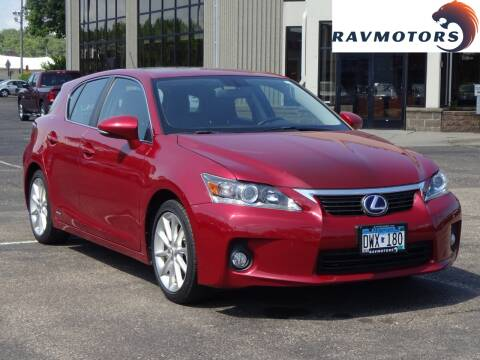 2013 Lexus CT 200h for sale at RAVMOTORS 2 in Crystal MN