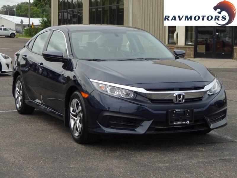2018 Honda Civic for sale at RAVMOTORS 2 in Crystal MN