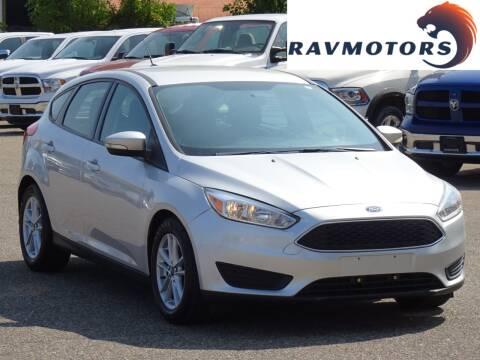 2015 Ford Focus for sale at RAVMOTORS in Burnsville MN