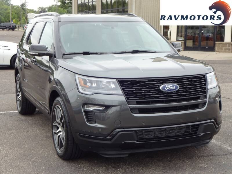 2018 Ford Explorer for sale at RAVMOTORS 2 in Crystal MN
