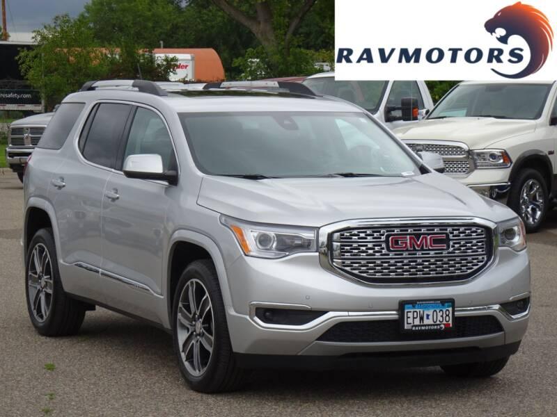 2018 GMC Acadia for sale at RAVMOTORS in Burnsville MN