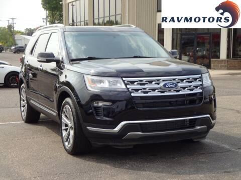 2018 Ford Explorer for sale at RAVMOTORS 2 in Crystal MN