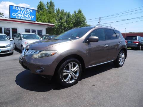 2009 Nissan Murano for sale at Surfside Auto Company in Norfolk VA