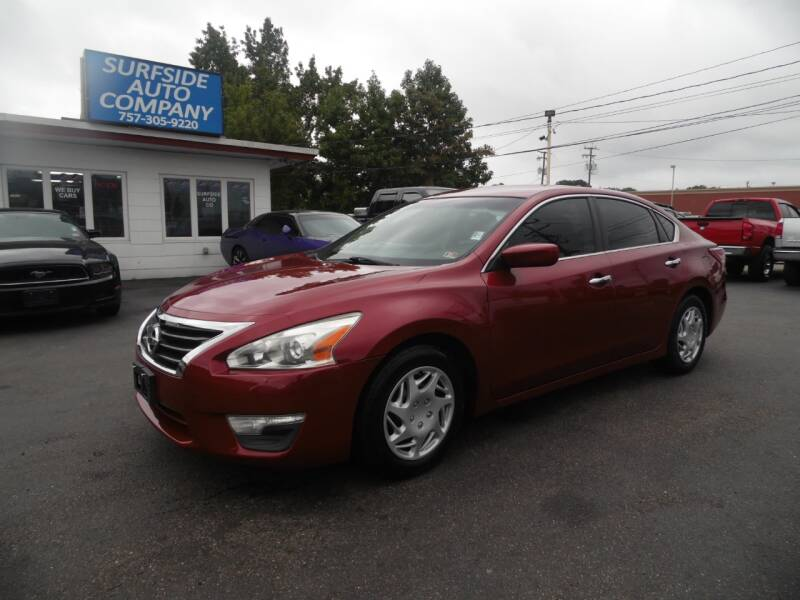 2013 Nissan Altima for sale at Surfside Auto Company in Norfolk VA