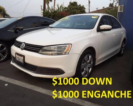 2013 Volkswagen Jetta for sale at PACIFICO AUTO SALES in Santa Ana CA