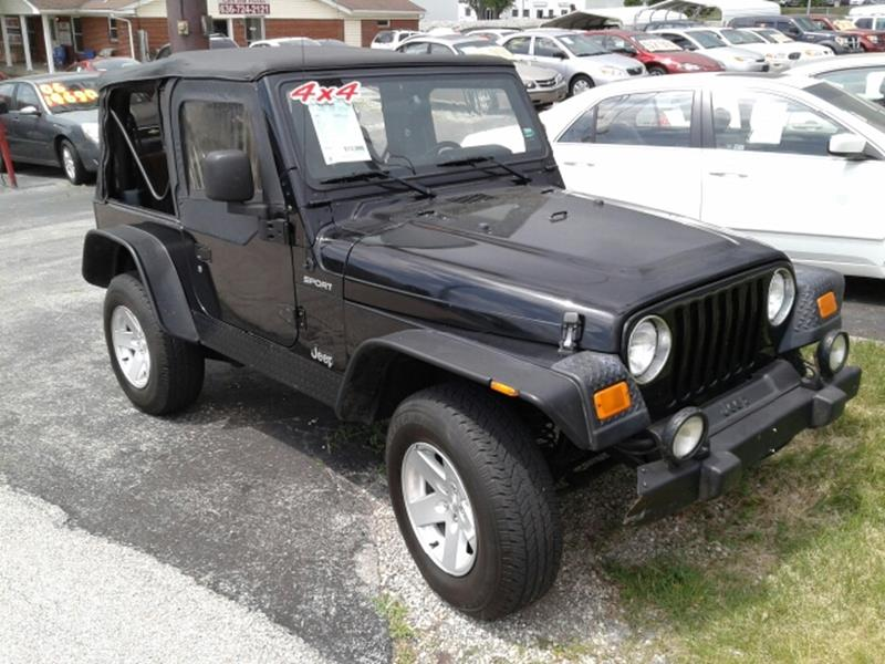 2004 Jeep Wrangler Sport 4wd 2dr Suv In St Charles Mo Jdf Auto