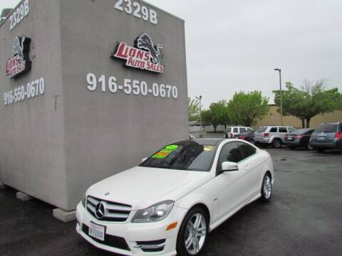 2012 Mercedes-Benz C-Class C 250 for sale at LIONS AUTO SALES in Sacramento CA