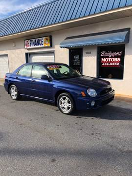 2002 Subaru Impreza for sale at BRIDGEPORT MOTORS in Morganton NC