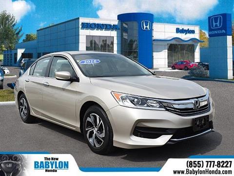 2016 Honda Accord for sale in Hempstead, NY