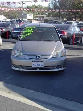 2003 Honda Civic for sale at MIKE AHWAZI in Santa Ana CA