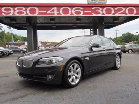2011 BMW 5 Series for sale at AUTO SELECTION OF CHARLOTTE in Charlotte NC