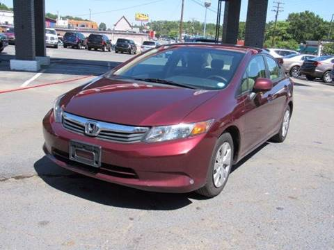 2012 Honda Civic for sale at AUTO SELECTION OF CHARLOTTE in Charlotte NC