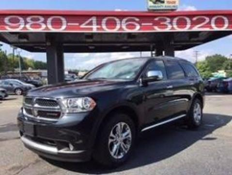 2013 Dodge Durango for sale at AUTO SELECTION OF CHARLOTTE in Charlotte NC