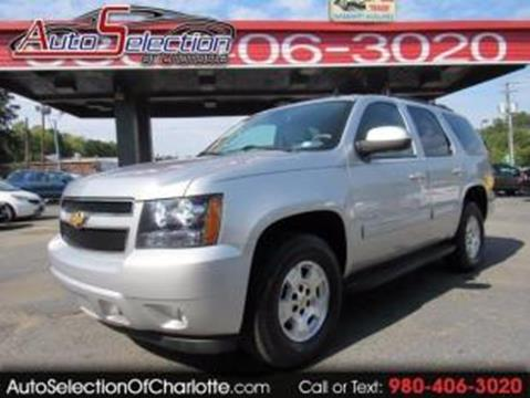 2012 Chevrolet Tahoe for sale at AUTO SELECTION OF CHARLOTTE in Charlotte NC