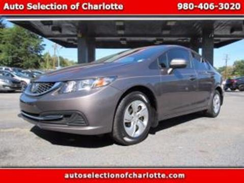 2014 Honda Civic for sale at AUTO SELECTION OF CHARLOTTE in Charlotte NC