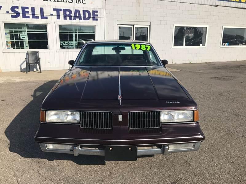 1987 Oldsmobile Cutlass Supreme  Miles 78116Color Maroon Stock 550F VIN 1G3GR11Y1HR302130
