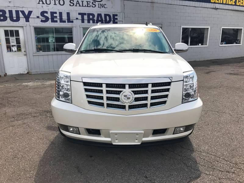 2008 Cadillac Escalade Esv  Miles 134819Color White Stock 588F VIN 1GYFK66898R168080