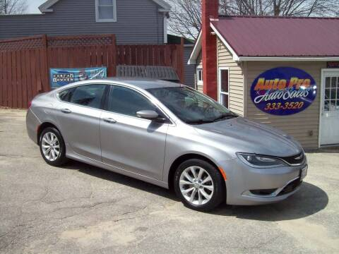 2015 Chrysler 200 for sale at Auto Pro Auto Sales-797 Sabattus St. in Lewiston ME