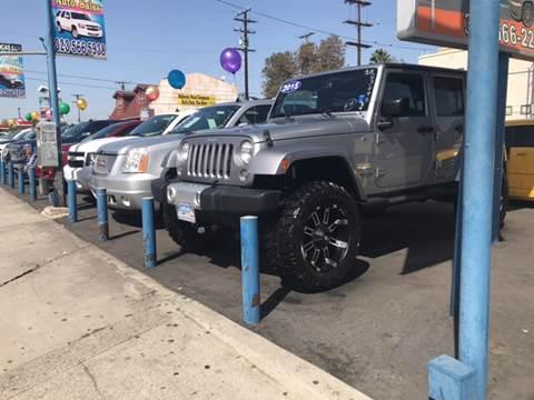 2015 Jeep Wrangler Unlimited for sale at 2955 FIRESTONE BLVD - 3271 E. Firestone Blvd Lot in South Gate CA