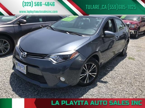 2016 Toyota Corolla for sale at LA PLAYITA AUTO SALES INC - Tulare Lot in Tulare CA