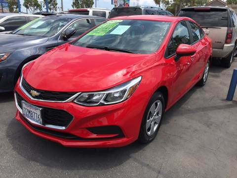 2017 Chevrolet Cruze for sale at LA PLAYITA AUTO SALES INC in South Gate CA