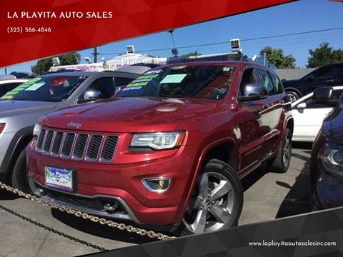 2014 Jeep Grand Cherokee for sale at LA PLAYITA AUTO SALES INC in South Gate CA