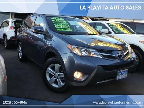 2013 Toyota RAV4 for sale at LA PLAYITA AUTO SALES INC in South Gate CA