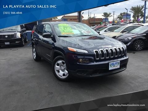 2014 Jeep Cherokee for sale at LA PLAYITA AUTO SALES INC in South Gate CA