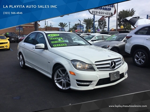 2012 Mercedes-Benz C-Class for sale at LA PLAYITA AUTO SALES INC in South Gate CA