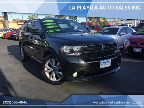 2012 Dodge Durango for sale at LA PLAYITA AUTO SALES INC in South Gate CA