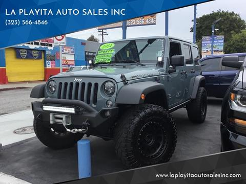2014 Jeep Wrangler Unlimited for sale at LA PLAYITA AUTO SALES INC in South Gate CA