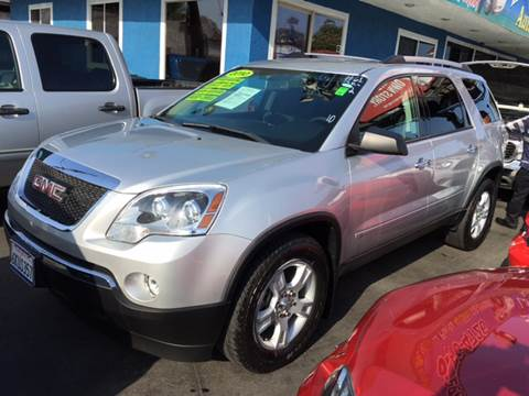 2010 GMC Acadia for sale at 2955 FIRESTONE BLVD in South Gate CA