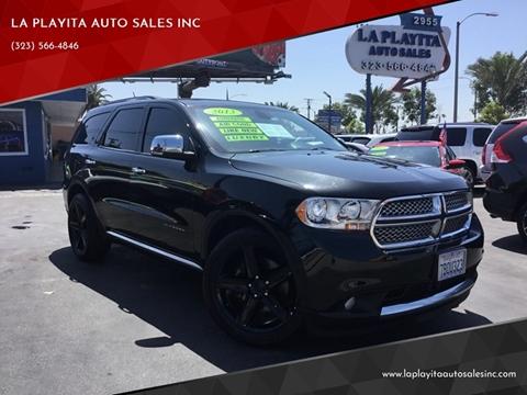 2013 Dodge Durango for sale at LA PLAYITA AUTO SALES INC in South Gate CA