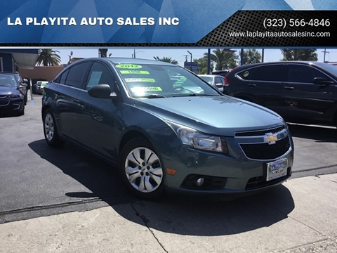 2012 Chevrolet Cruze for sale at LA PLAYITA AUTO SALES INC in South Gate CA