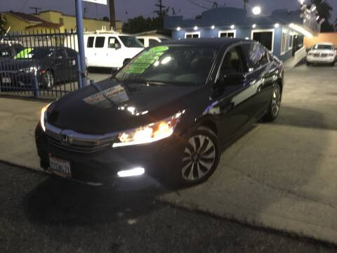 2017 Honda Accord Hybrid for sale at LA PLAYITA AUTO SALES INC in South Gate CA