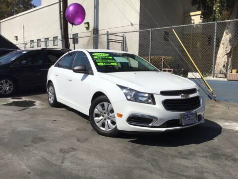 2015 Chevrolet Cruze for sale at LA PLAYITA AUTO SALES INC - 3271 E. Firestone Blvd Lot in South Gate CA