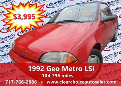 1992 GEO Metro for sale in Mechanicsburg, PA