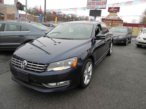 2013 Volkswagen Passat for sale at Daniel Auto Sales in Yonkers NY