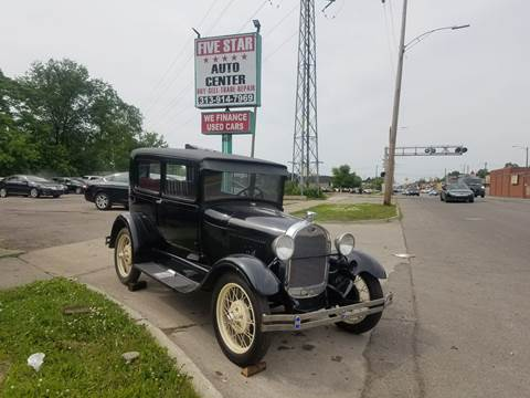 1929 Ford Model A for sale at Five Star Auto Center in Detroit MI