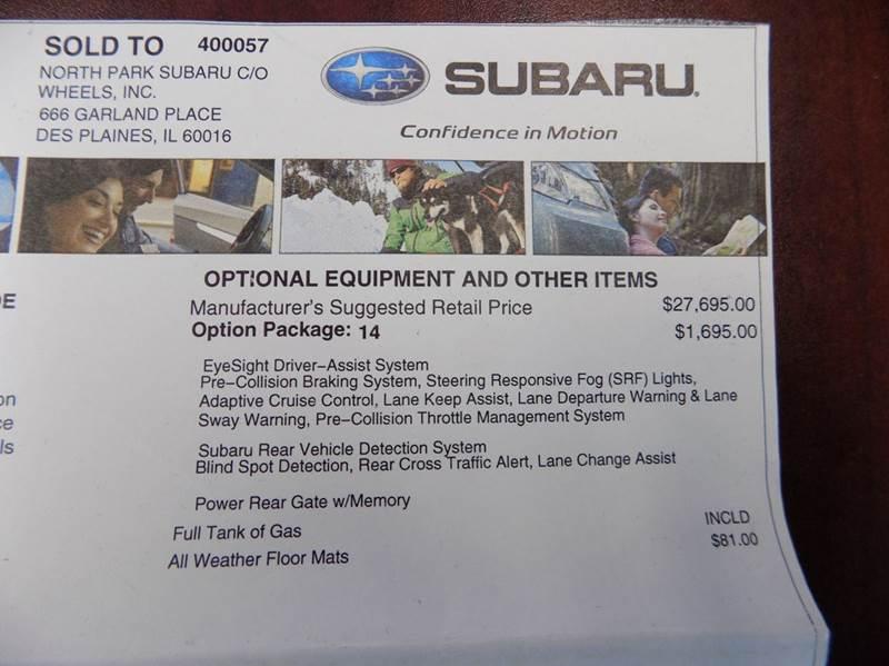 2016 Subaru Outback AWD 2.5i Premium 4dr Wagon - Mechanicsburg PA