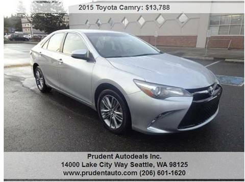 2015 Toyota Camry for sale at Prudent Autodeals Inc. in Seattle WA