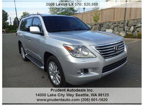 2008 Lexus LX 570 for sale at Prudent Autodeals Inc. in Seattle WA
