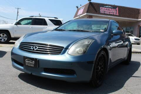 2005 Infiniti G35 for sale at Central 1 Auto Brokers in Virginia Beach VA