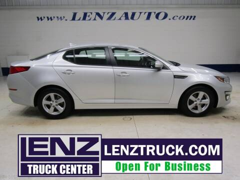 2015 Kia Optima for sale at LENZ TRUCK CENTER in Fond Du Lac WI