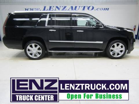 2020 Cadillac Escalade ESV for sale at LENZ TRUCK CENTER in Fond Du Lac WI