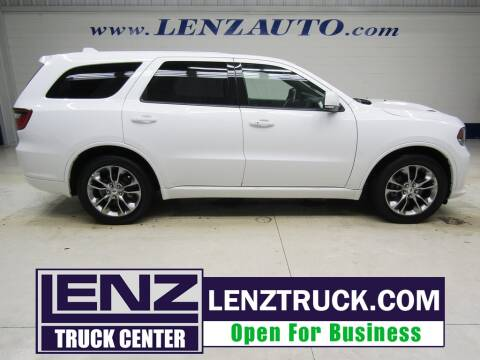 2019 Dodge Durango for sale at LENZ TRUCK CENTER in Fond Du Lac WI